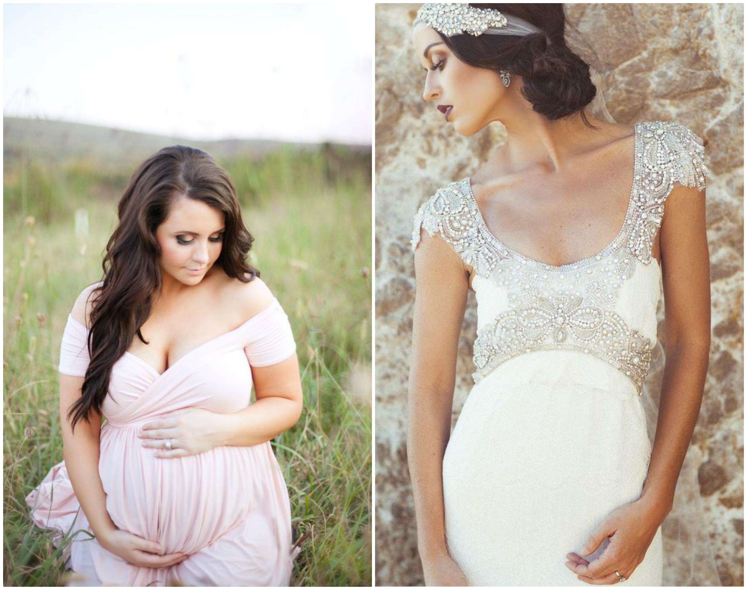 Sukienki ciążowe na ślub cywilny i kościelny