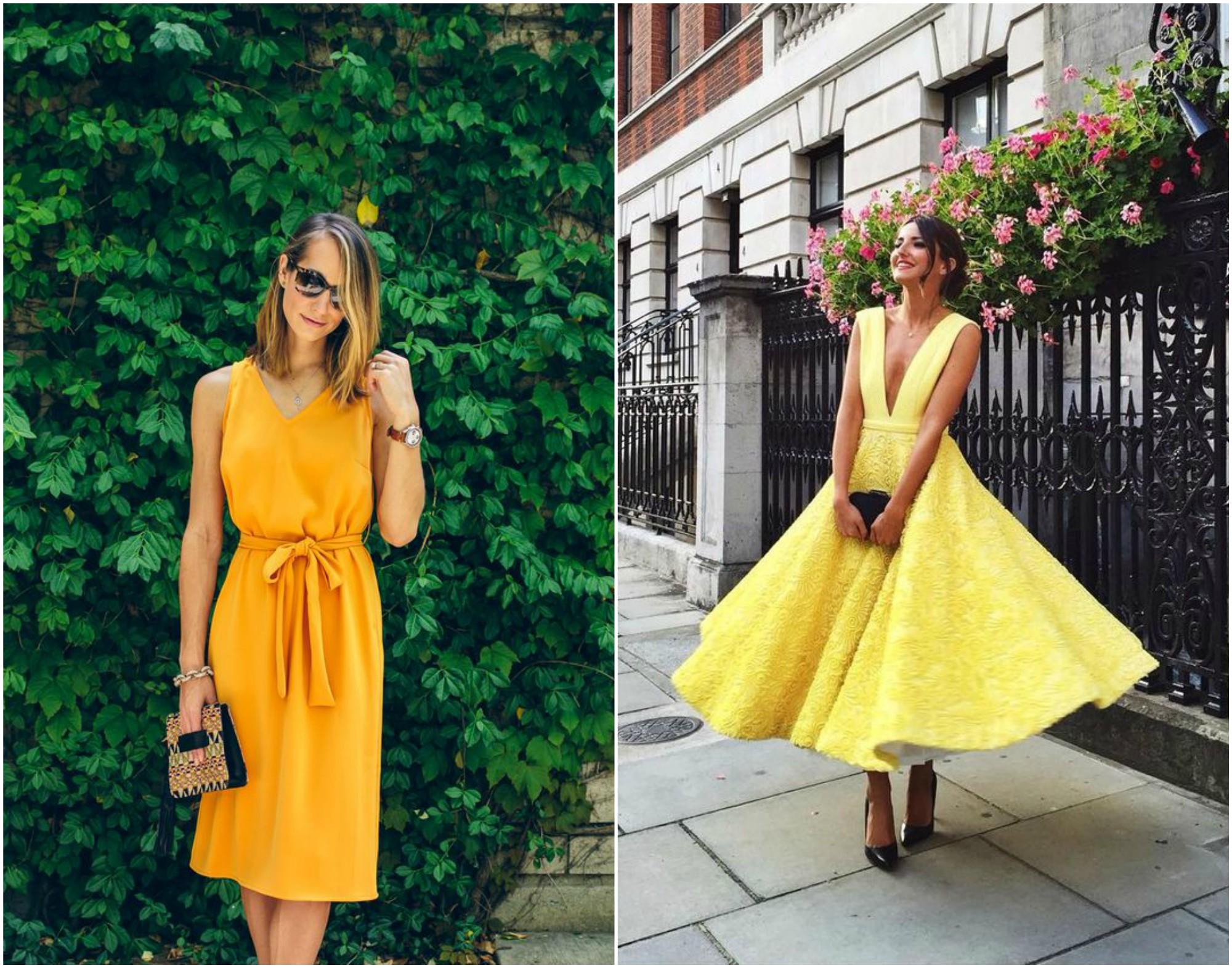 Żółta sukienka na wesele