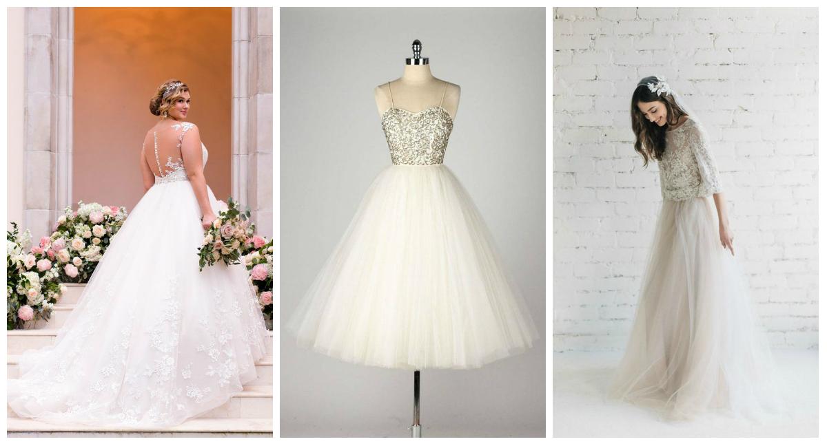 Tiulowe suknie ślubne