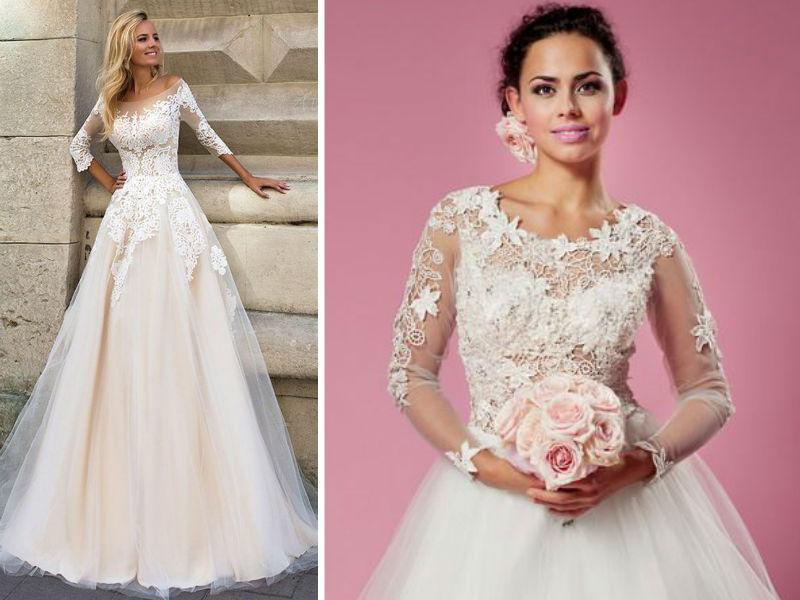 Suknia ślubna Z Długim Rękawem Modaislubpl