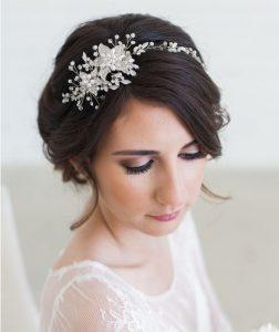 Opaska na włosy do ślubu (fot. etsy.com, GildedShadows)