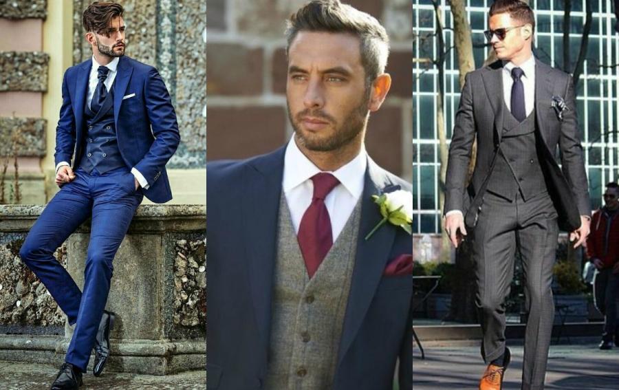 jak ubrać mężczyznę na wesele trzyczęściowy