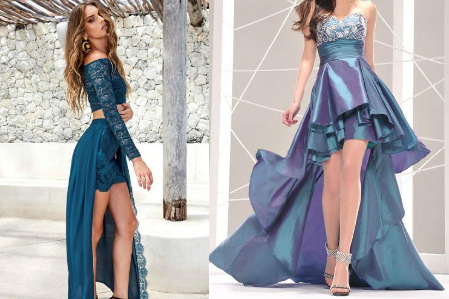 sukienki z ogonem